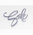 realistic metallic inscription sale on a white vector image vector image
