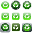 recycling green app icons vector image vector image