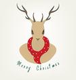Reindeer Christmas vector image vector image