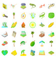 rest in forest icons set cartoon style vector image vector image