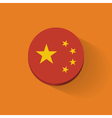 Round icon with flag of China vector image