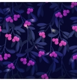 Seamless pattern with berries and leaves vector image