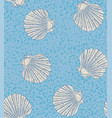 seamless pattern with shells of scallops vector image