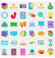 searching icons set cartoon style vector image vector image