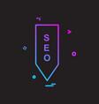 seo tag icon design vector image
