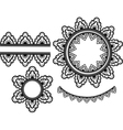 set of lace elements vector image vector image