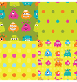 set patterns with monsters vector image vector image