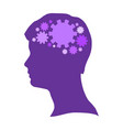 Silhouette of a human head vector image
