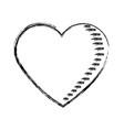 sketch heart love romantic valentine symbol vector image vector image