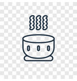 soup concept linear icon isolated on transparent vector image vector image