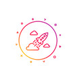 startup rocket line icon launch project sign vector image
