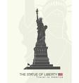 statue liberty new york landmark vector image vector image