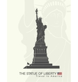 Statue of Liberty New York landmark vector image vector image