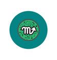 stylish icon in color circle zodiac signs scorpio vector image vector image