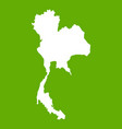 thailand map icon green vector image