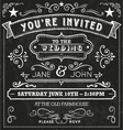 Wedding Chalkboard Invitation Elements vector image