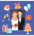 Wedding Design Set of Elements vector image vector image