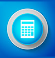 white calculator icon accounting symbol vector image