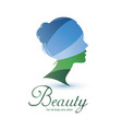 womans head stylized profile skin care and womans vector image vector image