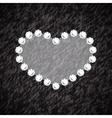 Heart symbol of brilliant diamonds vector image