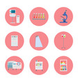 hospital equipment icons on vector image