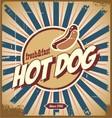 Retro hot dog sign vector image