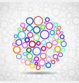 abstract ball colorful circles vector image vector image