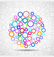 abstract ball of colorful circles vector image vector image