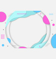 abstract landscape circular paper cut with blue vector image vector image