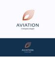 aviation logo vector image vector image