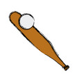 baseball bat and ball equipment image vector image vector image