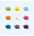 brain power communication in polygon icon vector image