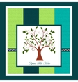 Card with a tree vector image