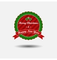 Christmas and New Year label with ribbon vector image vector image