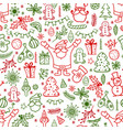 christmas design element in doodle style pattern vector image vector image