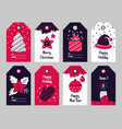 christmas tags new year present and xmas gift vector image