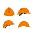 construction helmet icon set flat style vector image vector image