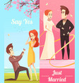 couple in love vertical banners vector image vector image