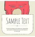 Cute doodle cartoon monster greeteng or invitation vector image vector image