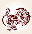 Decorative turkey vector image vector image