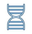 dna molecule genetic science line fill blue icon vector image vector image
