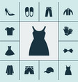 dress icons set with baseball cap glove vector image vector image