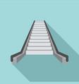 escalator icon flat style vector image vector image