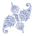 exotic paisley ethnic ornament hand drawn boho vector image vector image