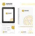 fan business logo tab app diary pvc employee card vector image vector image