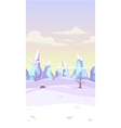 fantasy winter landscape vector image