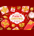festive christmas greeting card vector image vector image