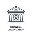 financial organization line icon concept vector image vector image