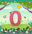 flashcard for learning to counting number 0 vector image