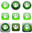 Forum green app icons vector image